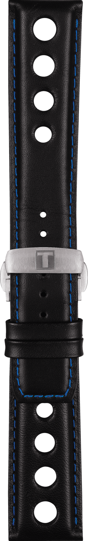 Tissot V8 T106417A Black / Blue Leather Watch Band