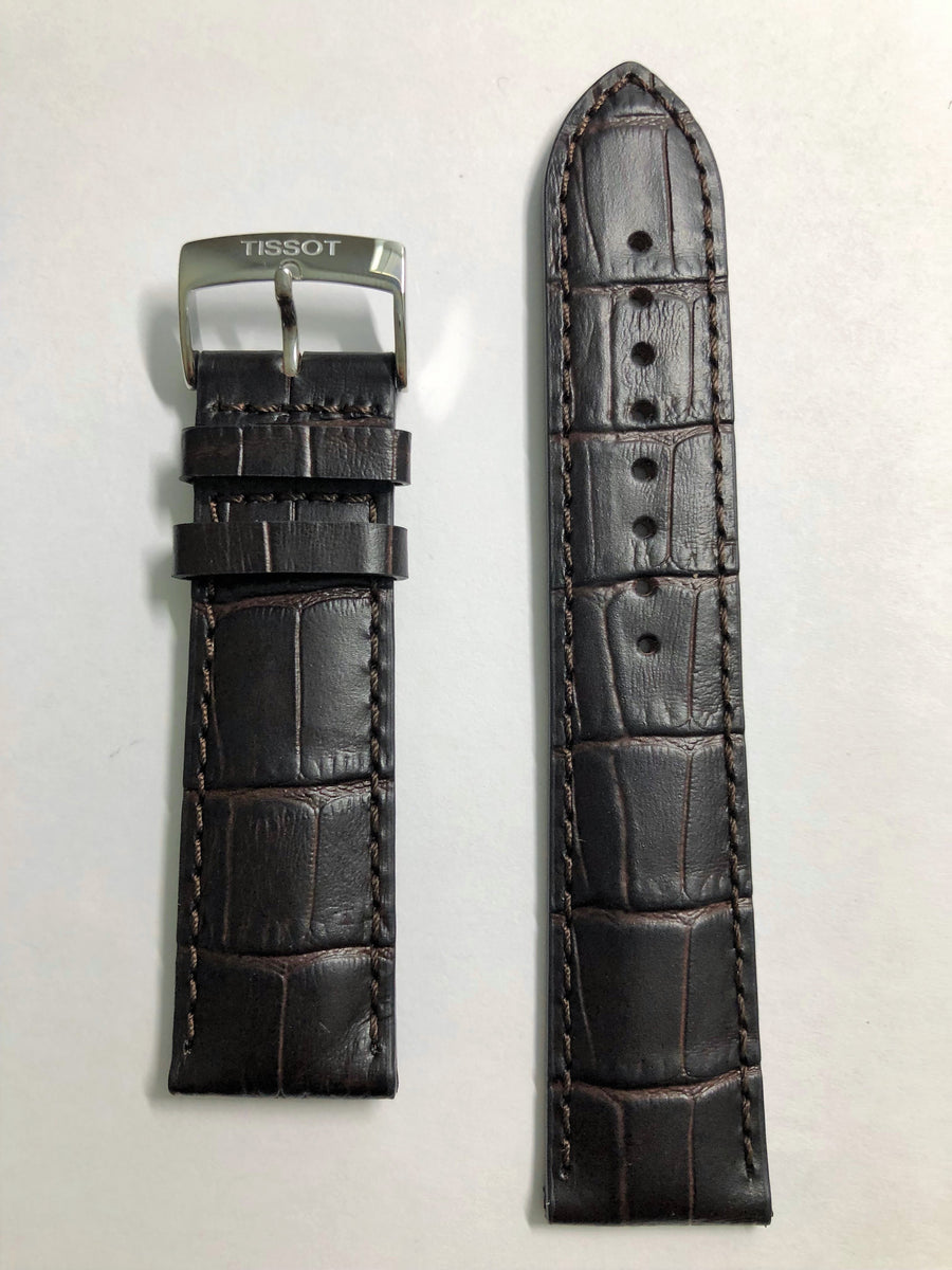 Tissot Chrono T116617 A Brown Leather 22mm Watch Band