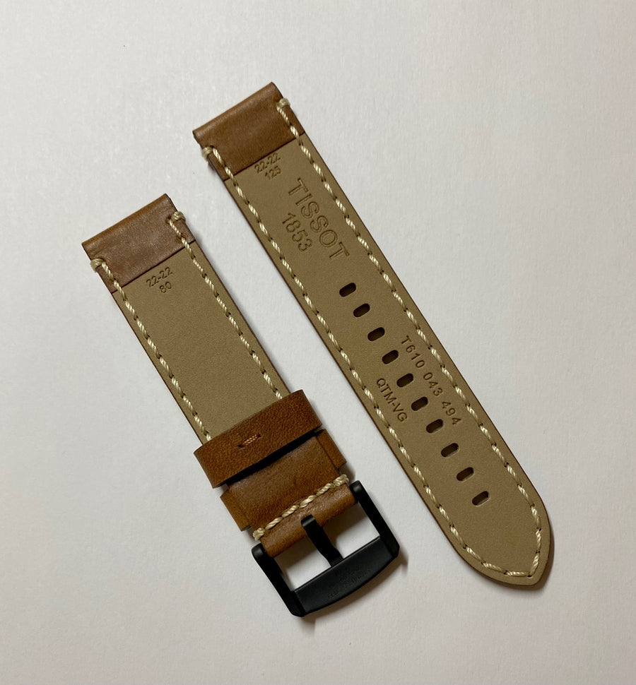 Tissot 22mm Brown Leather Watch Band T116410A / T116617A - WATCHBAND EXPERT