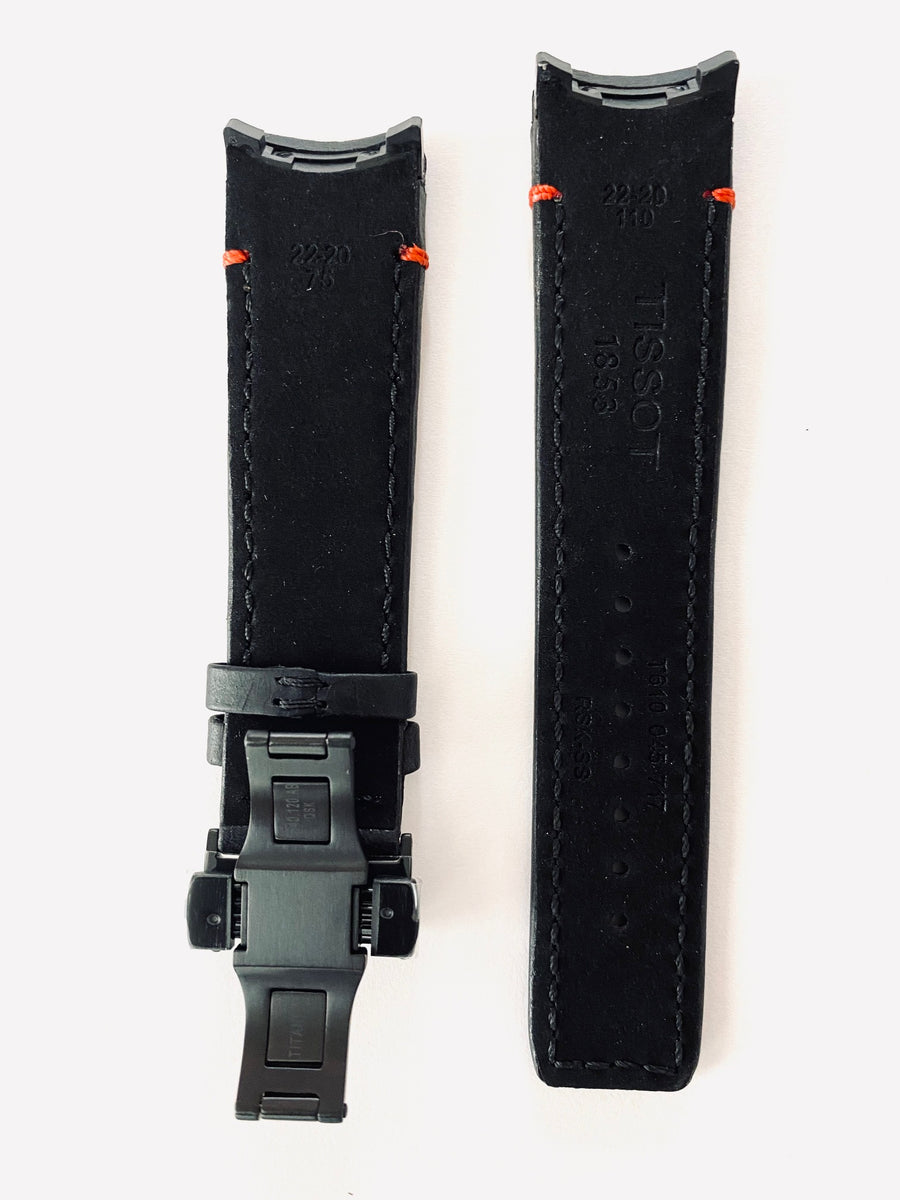 Tissot T091420A T-Touch Expert SOLAR Black Leather Watch Strap