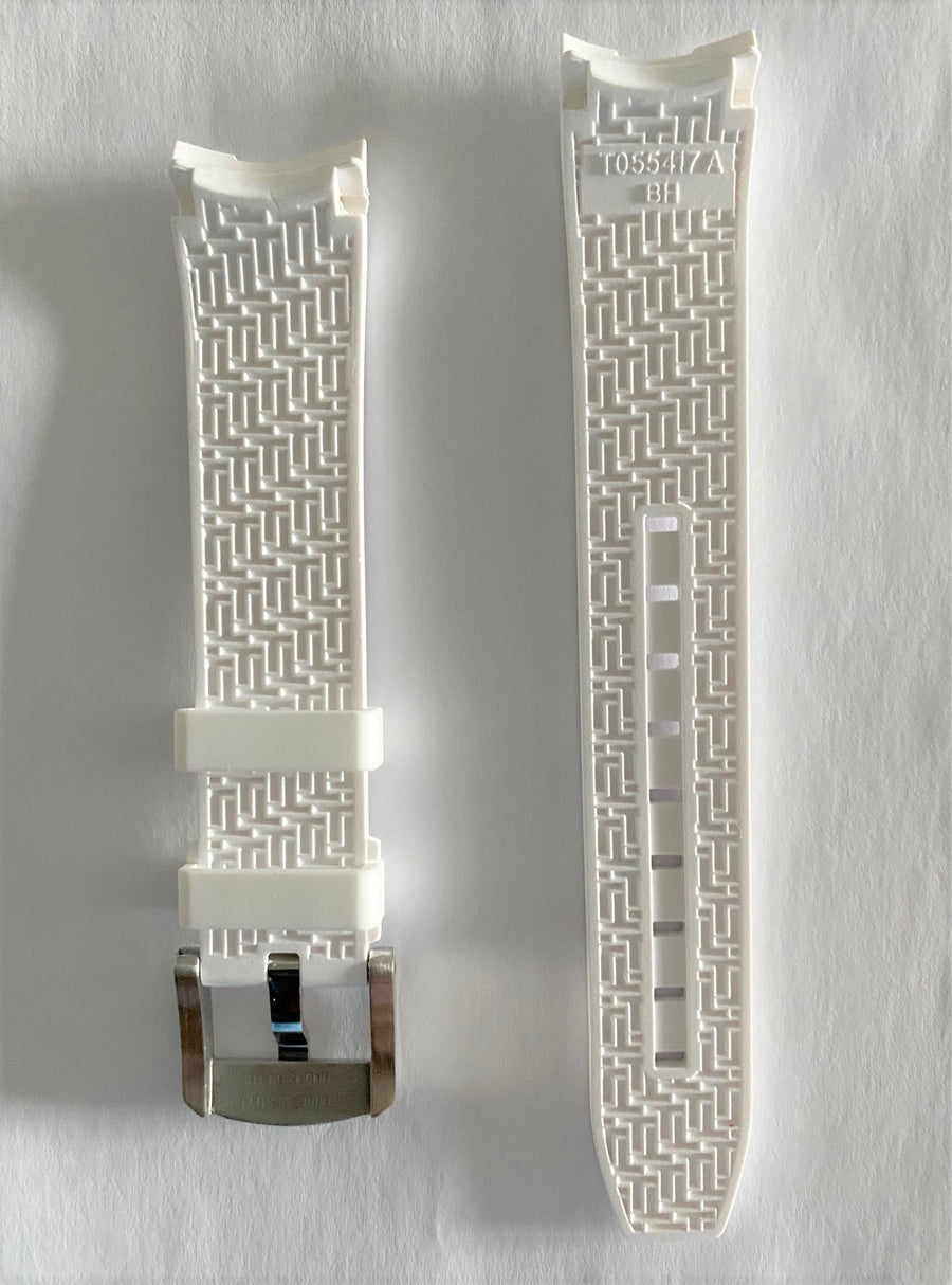Tissot PRC-200 T055417A White Rubber Watch Band - WATCHBAND EXPERT