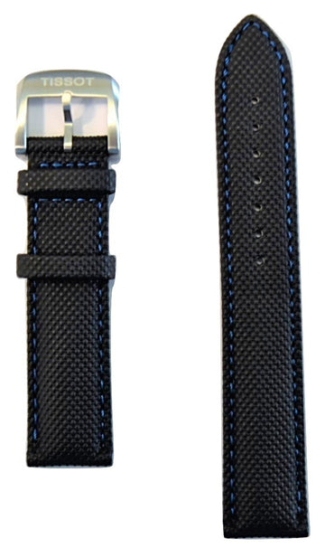 Tissot Quickster 19mm Grey Synthetic Leather Watch Band Replacement Strap - WATCHBAND EXPERT