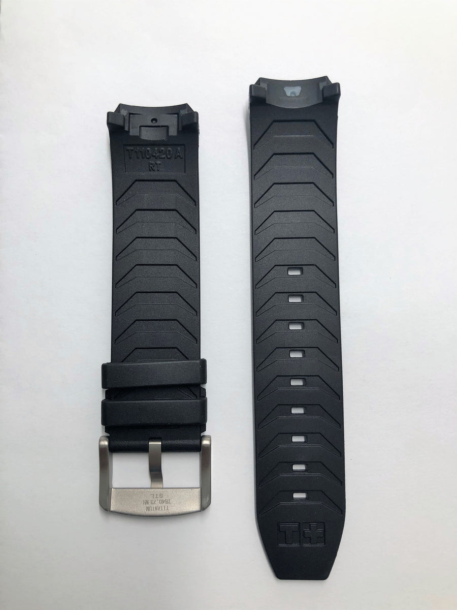 Tissot T091420A T-Touch Expert SOLAR Black Rubber Band Strap