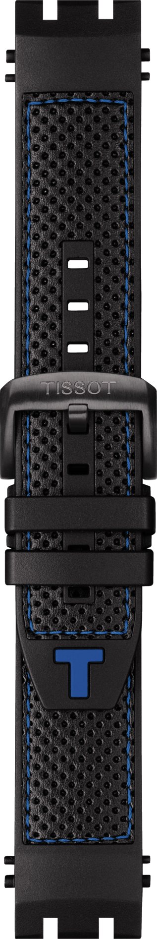 Tissot T-Race Model # T115417 Black / Blue Rubber Watch Band - WATCHBAND EXPERT