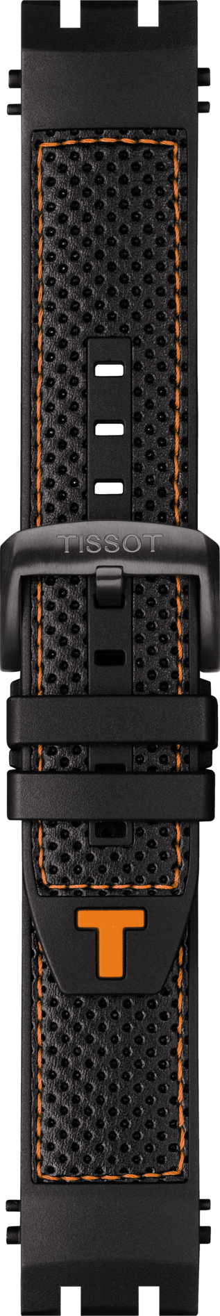 Tissot T-Race Model # T115417 Black / Orange Rubber Watch Band