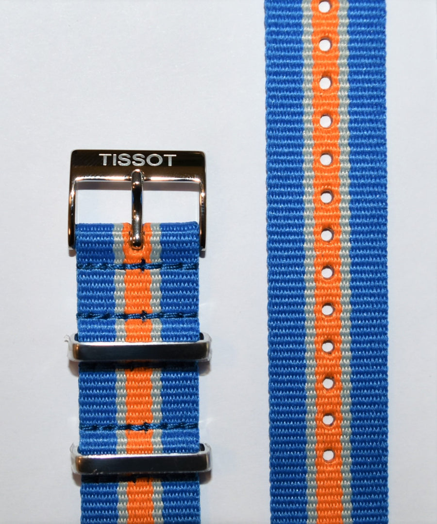 Tissot Quickster Nato T095417A, T095410A 19mm Blue/ Orange Strap Band
