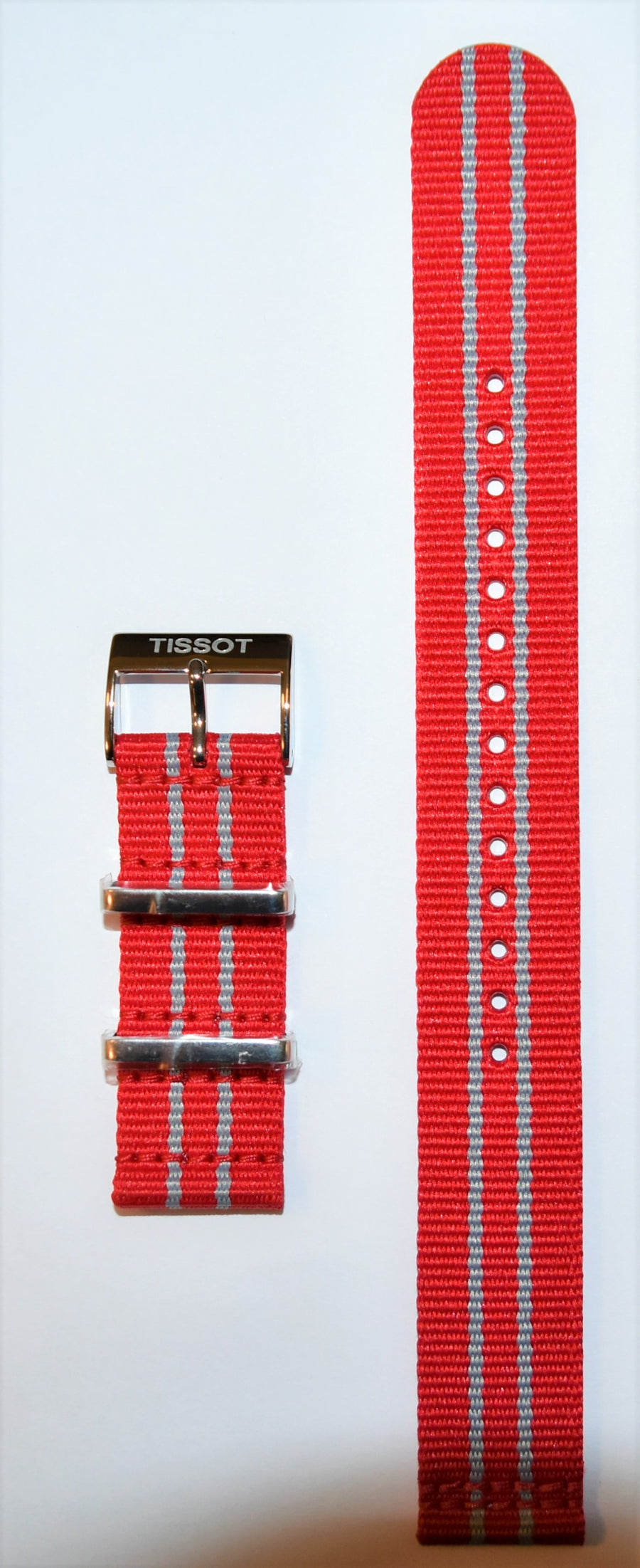 Tissot Quickster Nato T095417A, T095410A 19mm Red / Gray Strap Band