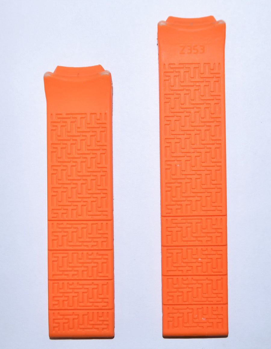 Tissot T-Touch Z251/351 Orange Rubber Band Strap - WATCHBAND EXPERT