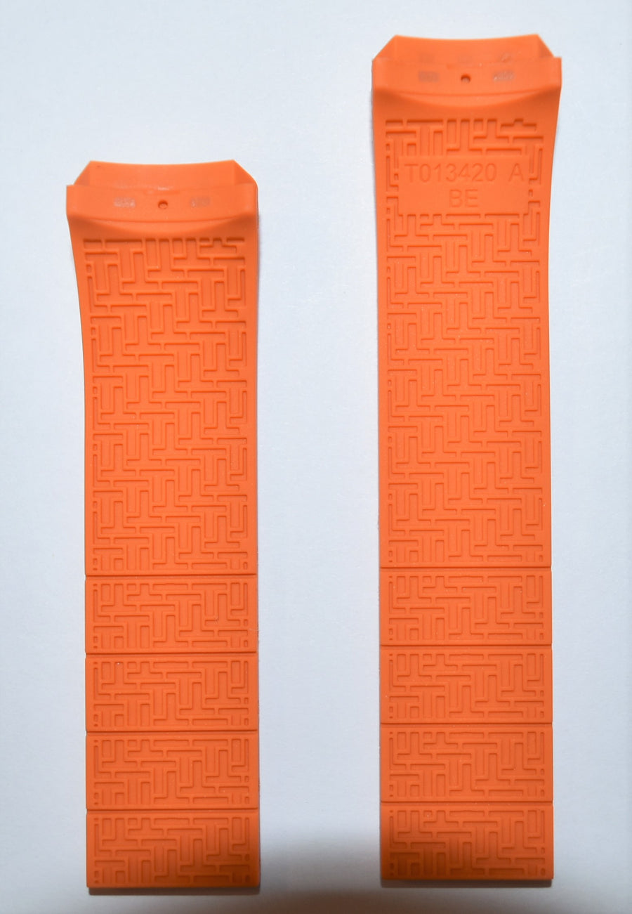Tissot T-Touch Expert T013420A Orange Rubber Watch Band - WATCHBAND EXPERT