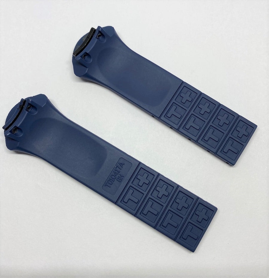 Tissot T-Tracx T010417A Blue Rubber Watch Band