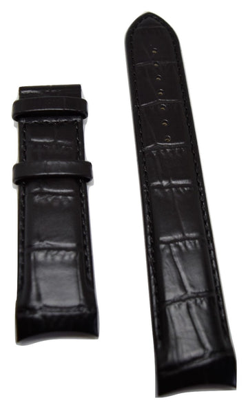 Tissot Couturier 22mm T035407A Black Leather Watch Band - WATCHBAND EXPERT