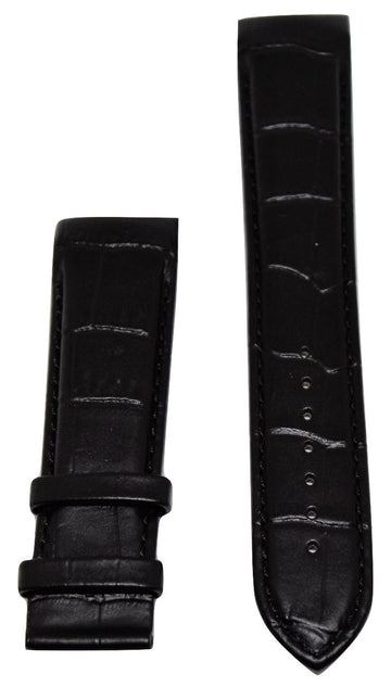 Tissot Couturier 23mm XL (80-130) Black Leather Band Strap - WATCHBAND EXPERT