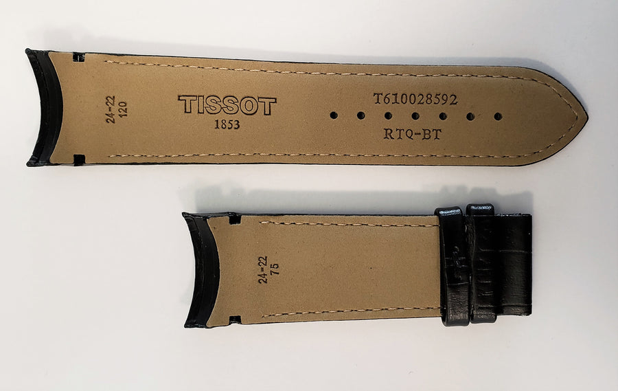 Tissot Couturier 24mm T035627A Black Leather Watch Band