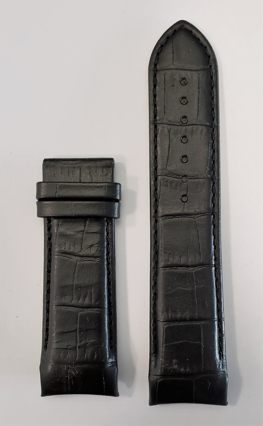 Tissot Couturier 24mm T035614A Black Leather Watch Band