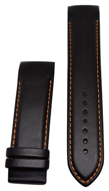 Tissot Couturier 24mm XL (80-130) Black Leather Watch Band - WATCHBAND EXPERT