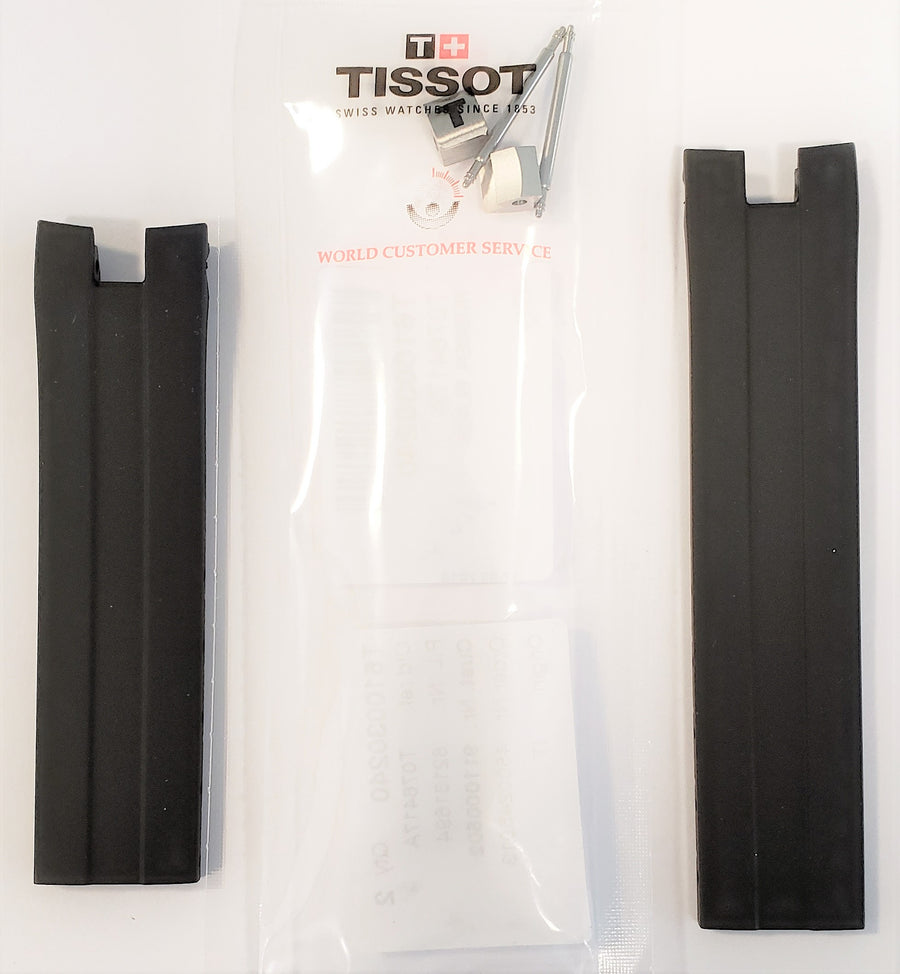 Tissot PRS-330 T076417A Black Rubber Watch Band - WATCHBAND EXPERT
