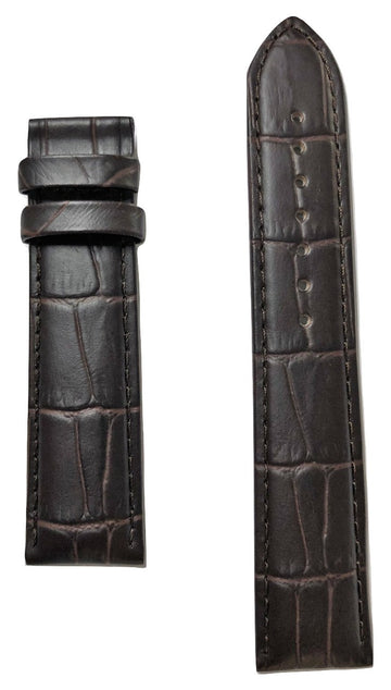 Tissot Tradition T063907A 20mm Brown Leather Watch Band Strap - WATCHBAND EXPERT
