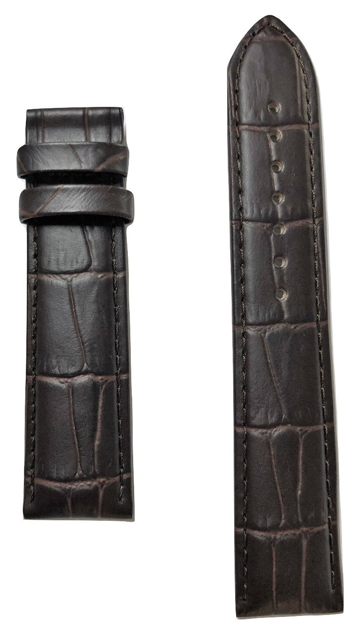 Tissot Tradition T063637A 20mm Brown Leather Watch Band Strap - WATCHBAND EXPERT