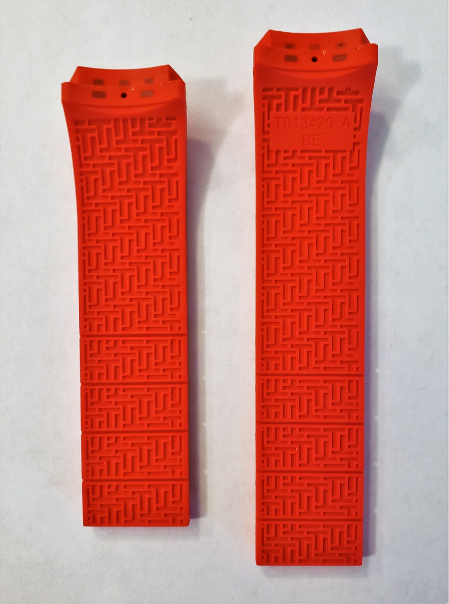 Tissot T-Touch II T047420A Red Rubber Watch Band - WATCHBAND EXPERT