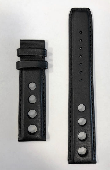Tissot PRS 516 T100417A 20mm Black Leather Watch Band Strap - WATCHBAND EXPERT