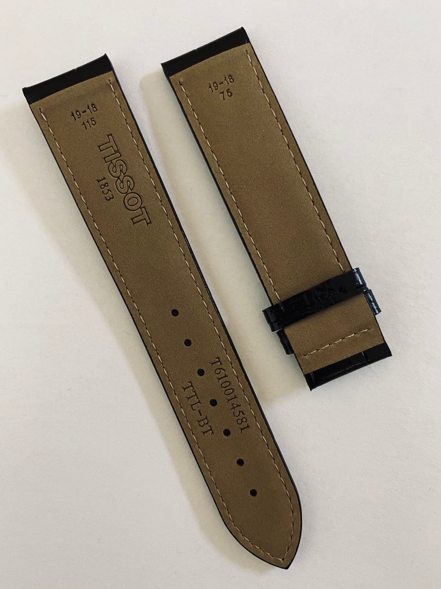 Tissot Le Locle 19mm T006408A T006424A Black Leather Watch Band