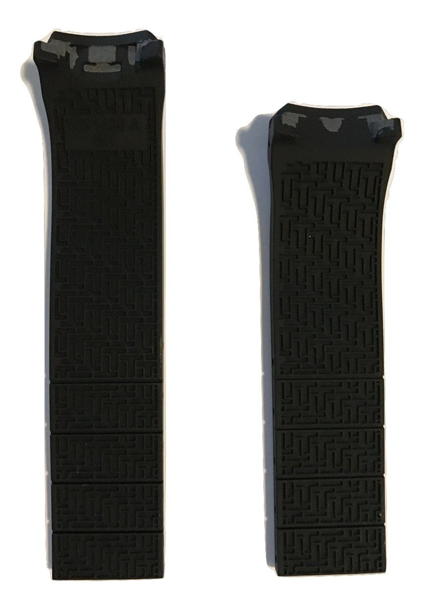 Tissot T-Touch Expert SOLAR Black Rubber 20mm Strap Band for T091420A - WATCHBAND EXPERT