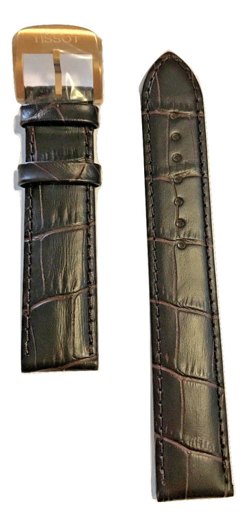 Tissot Quickster Brown Leather 19mm Strap Band for back-case T095417A - WATCHBAND EXPERT