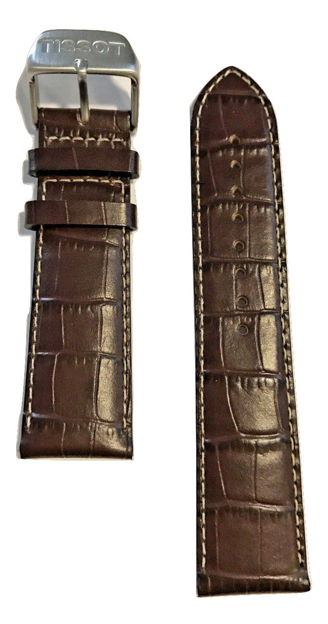 Tissot V8 Brown Leather 22mm Strap Band for T361316A, T039417A, T106417A - WATCHBAND EXPERT