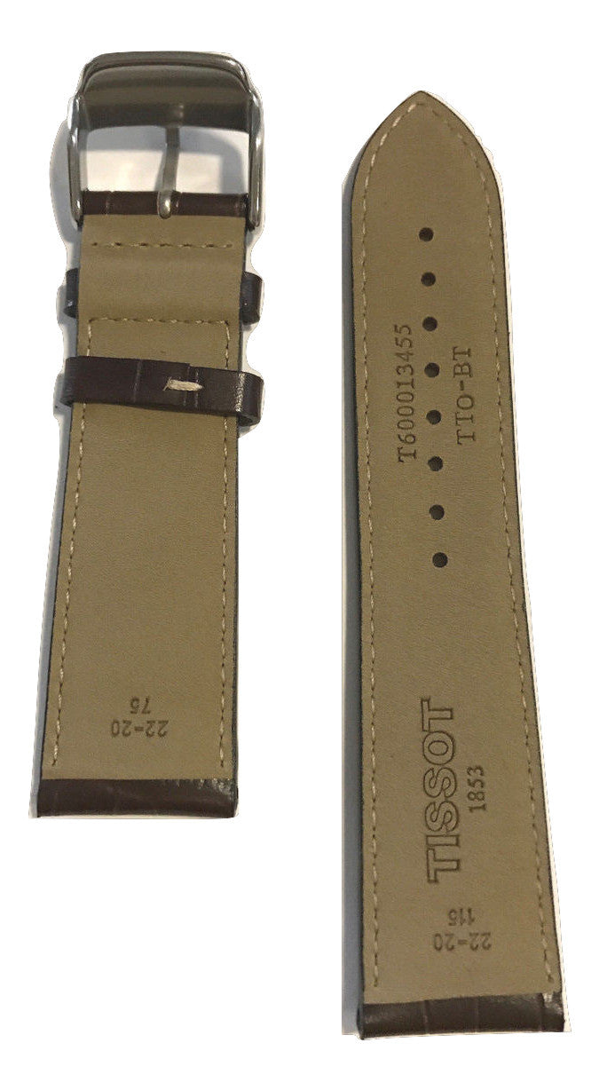 Tissot V8 Brown Leather 22mm Strap Band For T361316a T039417a