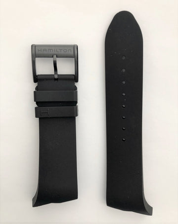 Hamilton H600246100 Ventura Black Rubber Watch Band