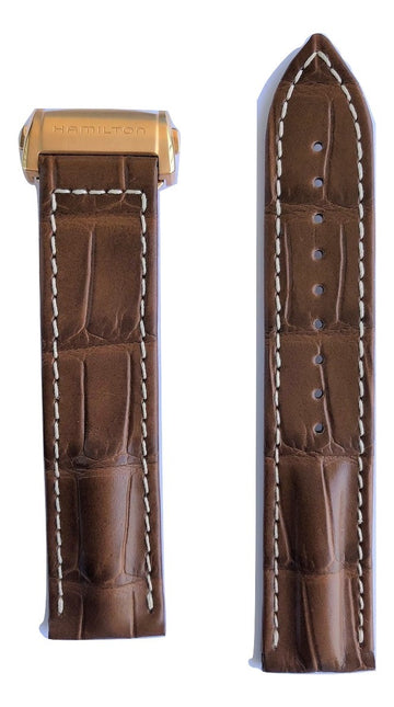 Hamilton RailRoad 24mm Brown Leather Watch Band