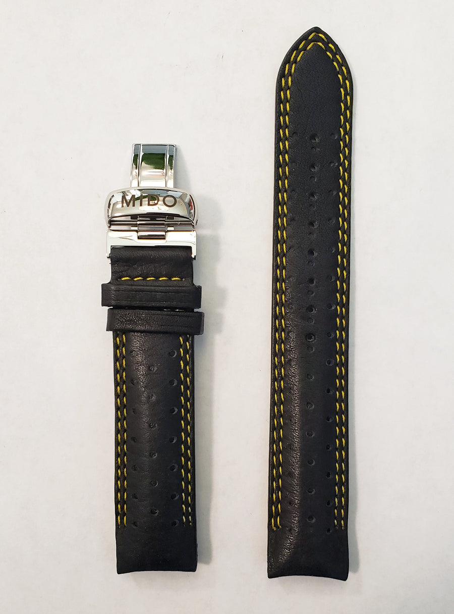 MIDO Ocean Star Model 8730 Black Leather Watch Band