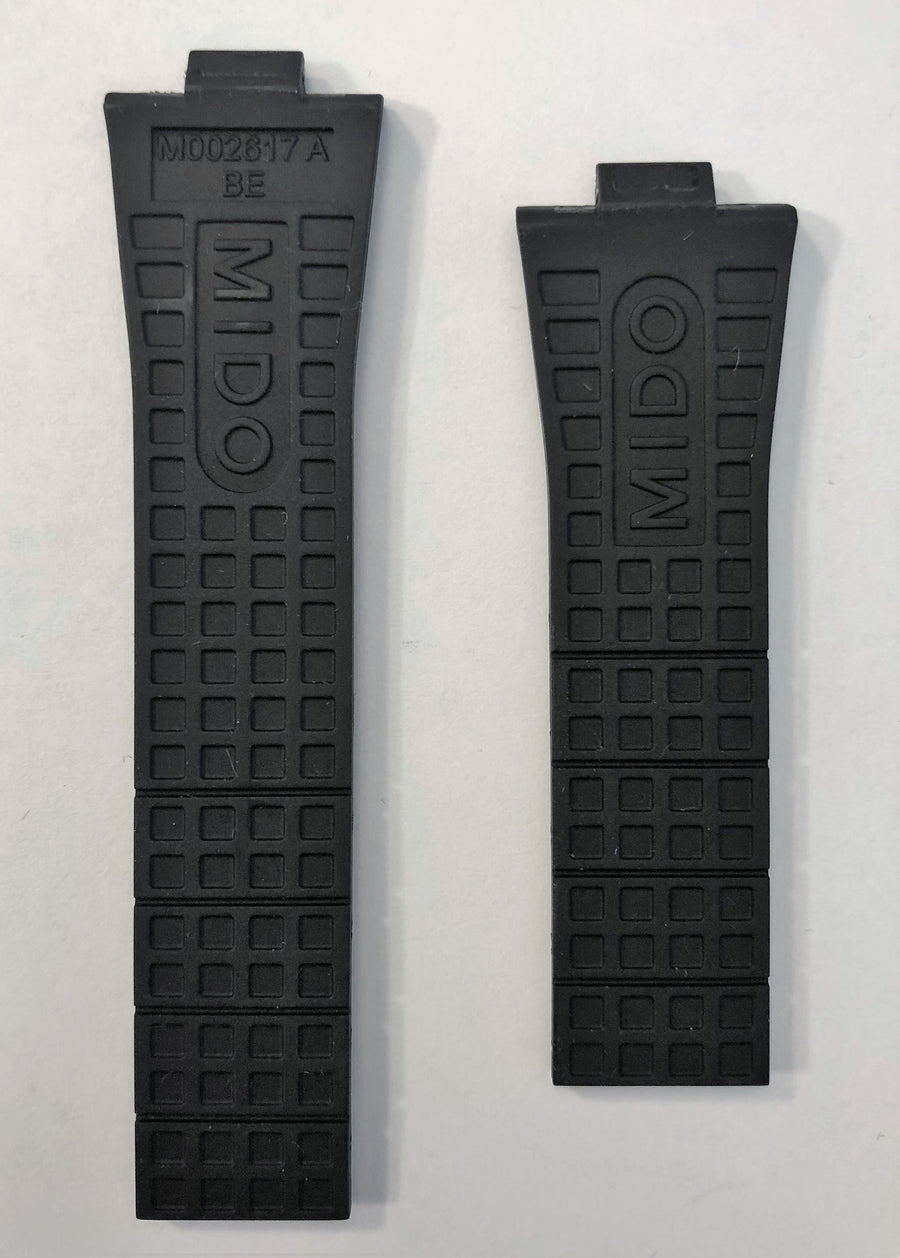 MIDO Ocean Star M002617A Black Rubber Watch Band - WATCHBAND EXPERT