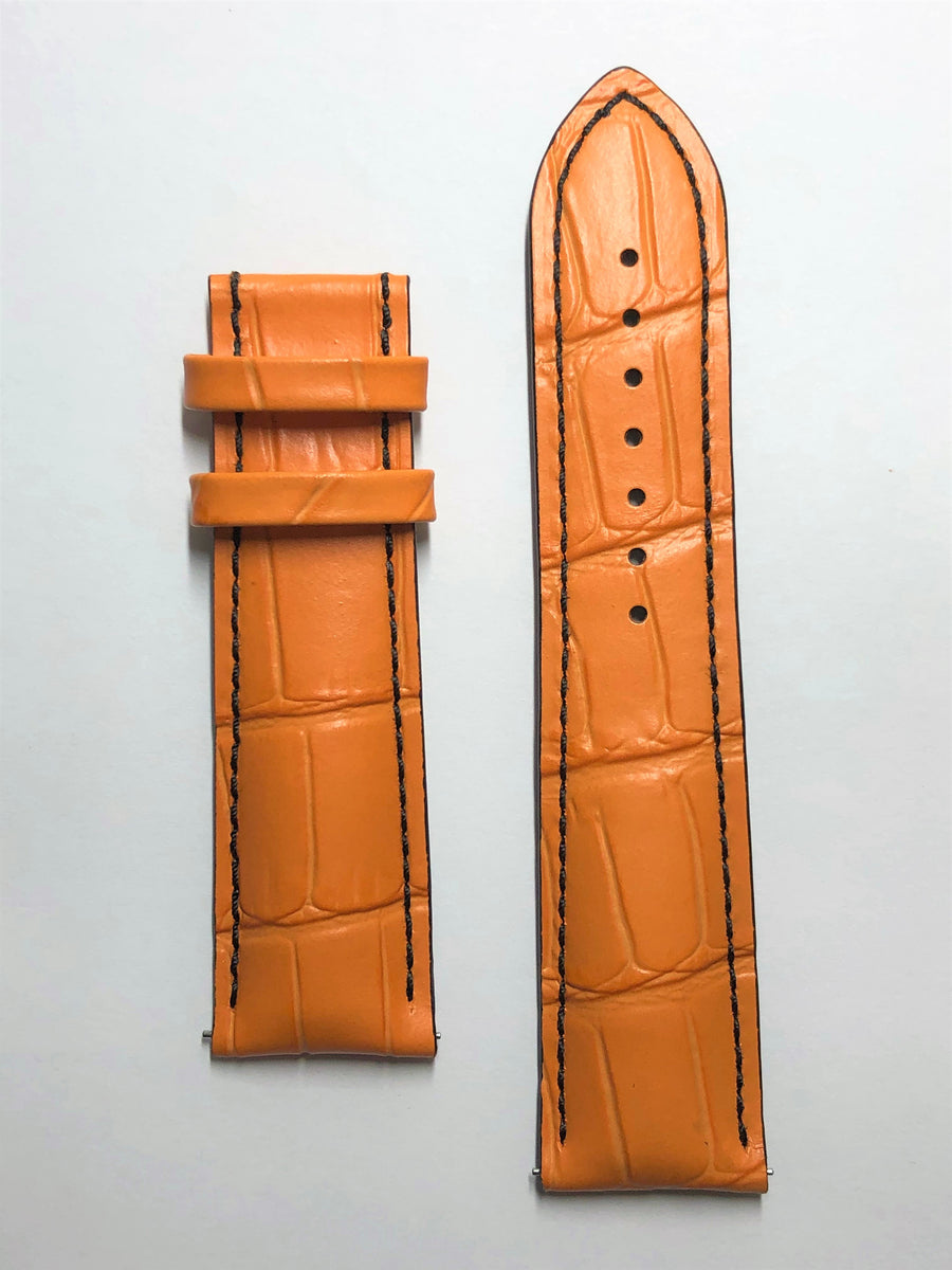 MIDO Multifort 23mm M005614A Orange Leather Watch Band