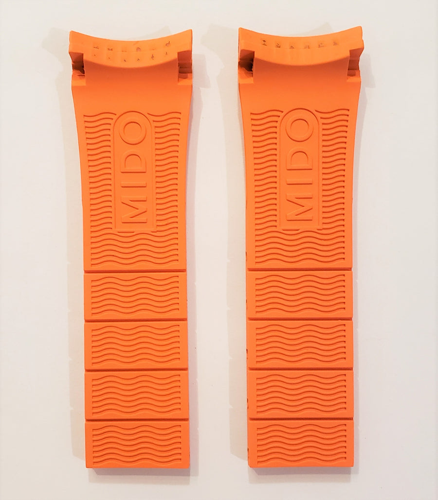 MIDO Ocean Star M026430A Orange Rubber Watch Band