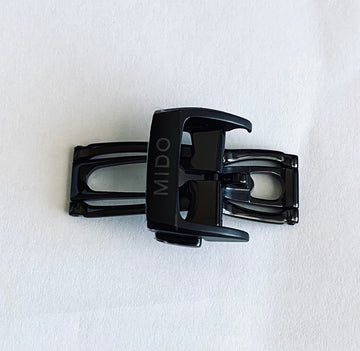 MIDO Multifort 18mm M025407A Black Clasp Buckle - WATCHBAND EXPERT