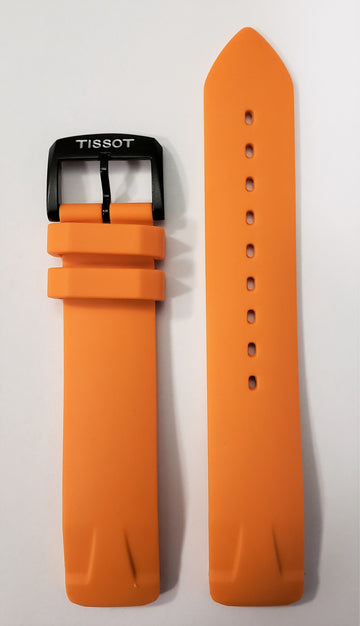 Tissot T-Race Touch T081420A Orange Rubber Watch Band - WATCHBAND EXPERT