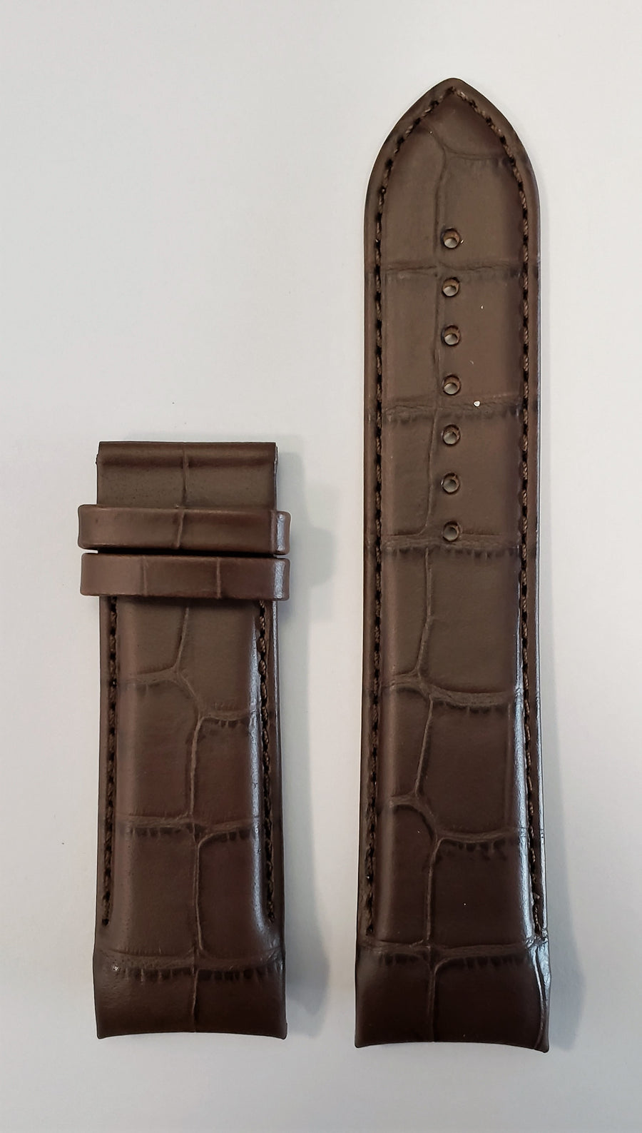 Tissot Couturier 24mm T035627A Brown Leather Watch Band