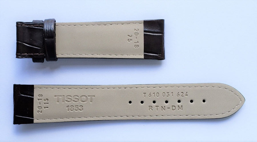 Tissot T-Touch T083420A 20mm Brown Leather Watch Band - WATCHBAND EXPERT