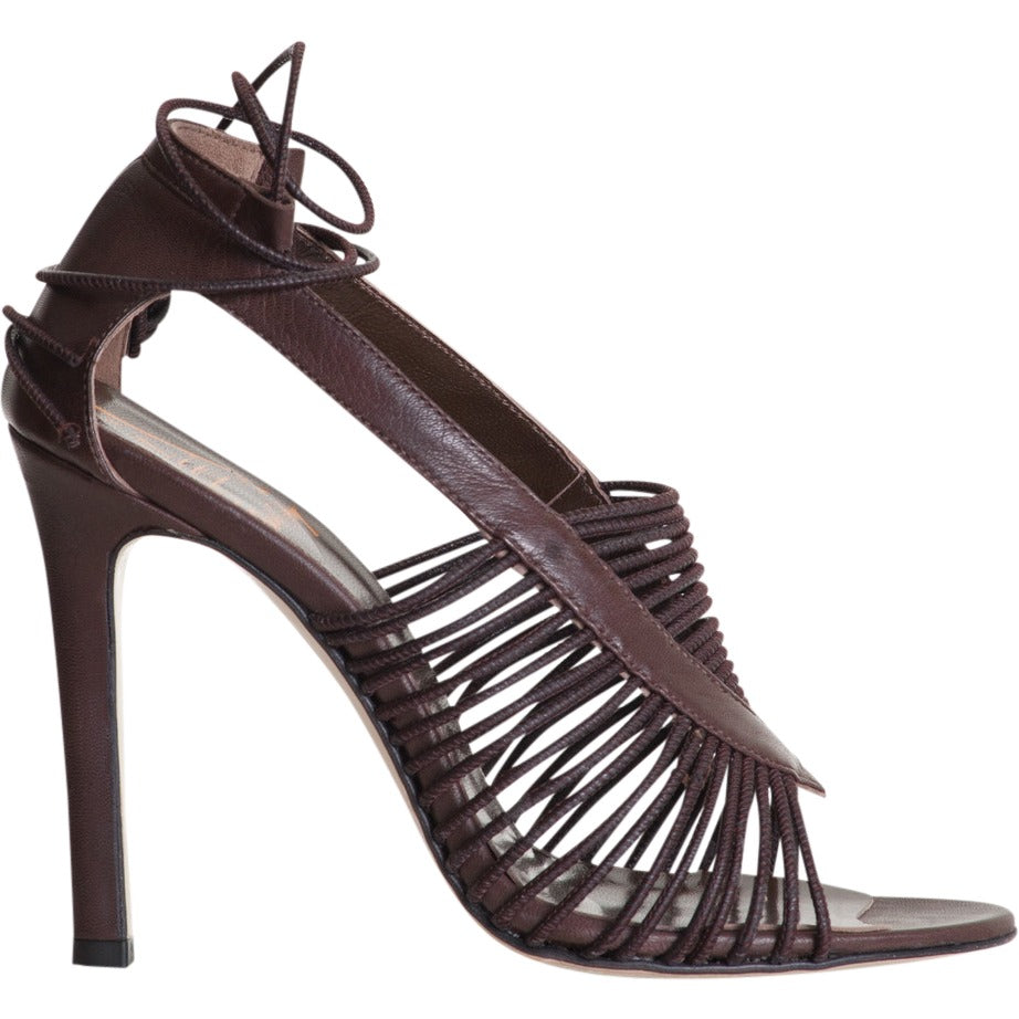 Angie sandal - chocolate brown sandal with laces