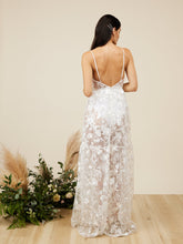 Valdes Semi Sheer Bridal Dress with Panty