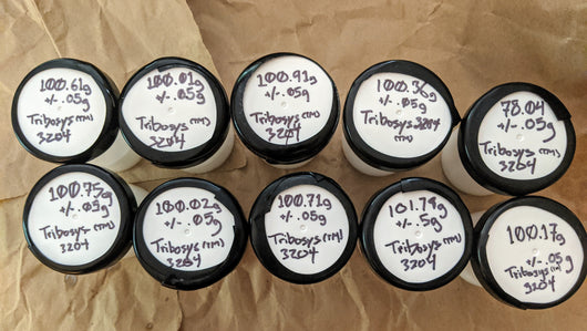 TriboSys™ 3204 Limited Bulk Packaging 75-102g .00 +/- .5-.05g