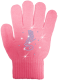 Skating Gloves with Rhinestone Skate