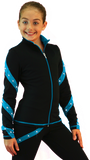 Fleece Spiral Jacket with Crystals J636F-CNC