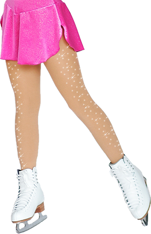 Footed Tights with AB Crystals