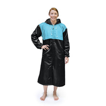 Load image into Gallery viewer, Black & Turquoise Solid Parka