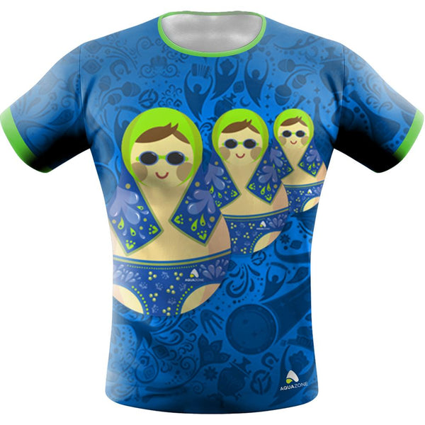 Playera Sublimada Matrioshka Hombre - aquashop