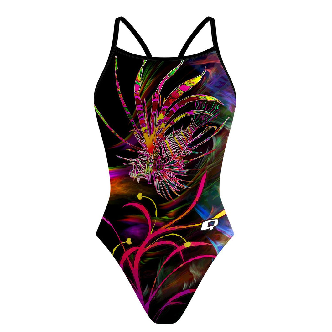 Lionfish in Technicolor Skinny Strap