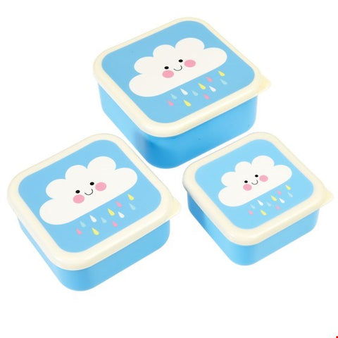 Set of 3 Happy Cloud Snack Boxes