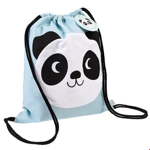 Miko the Panda Drawstring Bag